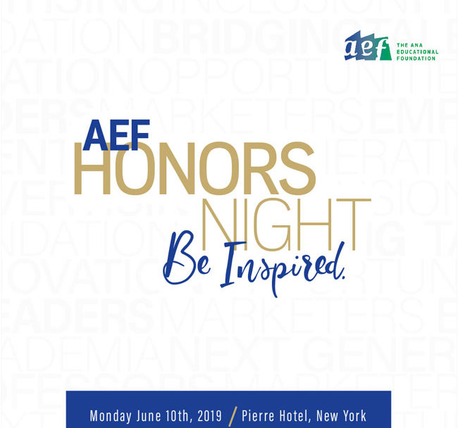 Honors Night 2019 invitation cover